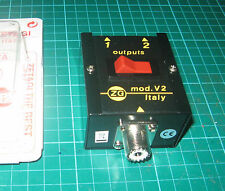 Zetagi mod-v2 antenne 2-Way commutateur coaxial signal radio so239