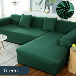 L Shaped Stretch Sectional Sofa Cover Seat Couch Slipcovers Furniture Protectors