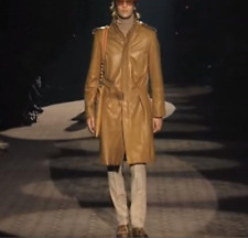 cbe30dd89 GUCCI BY TOM FORD 'RUNWAY' LIMITED MEN LEATHER TRENCH COAT JACKET EU ...