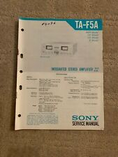 Sony TA-F5A Stereo Amplifier Original Service Manual