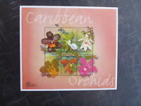 2000 CARIBBEAN ORCHIDS OF St VINCENT & THE GRENEDINES 6 STAMP MINI SHEET MNH