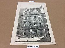 1891 Architect print - 11 Charles Street , Mayfair - original -The builder