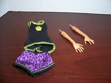 Monster High Clawdeen Wolf Dead Tired Pajamas and arms
