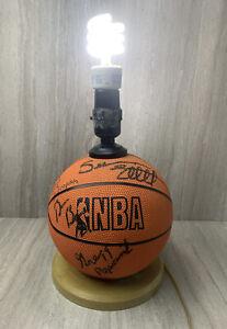 Gregg Popovich San Antonio Spurs Signed Basketball Lamp Autograph Elliott Beno +