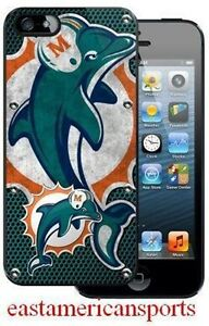 Miami Dolphins NFL iPhone 5 Polymer Case Cover Cell Smart Phone Protector Skin