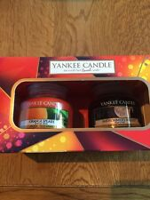 YANKEE CANDLE TWO SMALL JAR SET ORANGE SPLASH & MIDSUMMER'S NIGHT BNIB