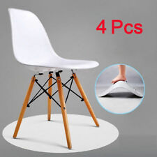 Set of 4 Retro Vintage Dining Office Lounge Chairs Plastic & Beech Wood Legs