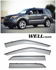 For 11-UP Ford Exploeer WellVisors Side Window Visors W/ Black Trim