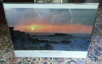 000 Vintage Silver Metal framed Sierra Club Hawaii Photo Melville Quote Poster