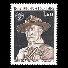 Monaco 1982 - Anniversary of the Birth of Lord Baden-Powell - Sc 1341 MNH