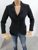 Giacca ARMANI COLLEZIONE Donna Taglia Size 40 Jacket Woman Nero Gessato 7626