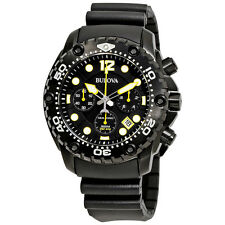 Bulova UHF Sea King Chronograph Black Dial Mens Watch 98B243