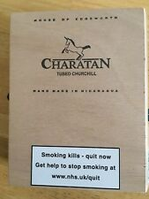 Charatan Churchill 10's Wooden Empty Cigar Box