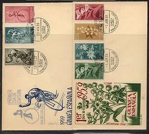 Spanish  Guinea   2  nice  cachet  covers   1959         KL0126
