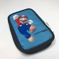 "Nintendo DS Super Mario Bros 6"" Soft Zipper Nintendo DSi Carrying Case Blue SM2"