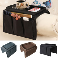 4 Pockets Sofa Storage Bag Chair Couch Table Arm Rest Organizer Tray Holder