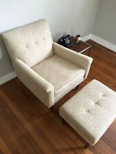 Mid Century Modern Vintage Lounge Arm Chair and Ottoman