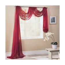 Rouge 150x300cm 150x300cm SUR MESURE écharpe de fenêtre de voile lambrequin