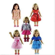 5PC Lots Doll Clothes for 18 Dolls American Girl Dolls Fun Game Children New