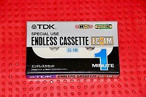 TDK  ENDLESS CASSETTE  EC-1  1 MINUTE VS IV  BLANK CASSETTE  TAPE (1) (SEALED)
