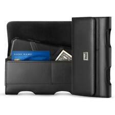 Black Leather Holster Pouch Case Card Holder Belt Clip For Samsung Galaxy Note 8