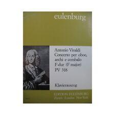 VIVALDI Antonio Concerto F dur Hautbois Piano 1973 partition sheet music score