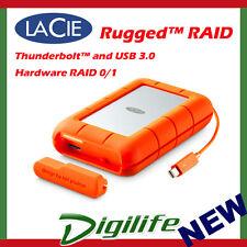 LaCie 4TB Rugged RAID Thunderbolt USB3 Portable Mobile Drive STFA4000400
