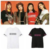 KPOP BLACKPINK T-shirt SQUARE ONE Concert LISA Tshirt 2017 Casual Tee Tops ROSE