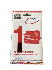 E Plus Ortel Mobile Prepaid Karte  01631112513