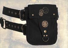 Gothic Steampunk Gürtel Tasche Gürteltasche Waistbag schwarz Zahnräder Neu