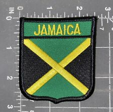 Jamaica National Country Flag Patch Badge Shield Crest Ensign Kingston Caribbean