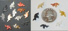 12 Vtg MINI Hand Carved Onyx Stone Lucky Charm Republican ELEPHANTS Trunk Up