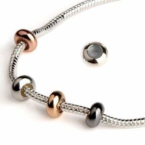 10pcs/lot European Round Stopper Screw Off End Bracelets Jewelry Lock Clip Beads