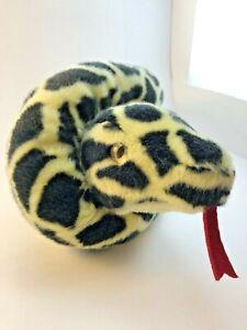 """52"""" Yellow Black Spotted Jungle Aurora Plush Stuffed Snake Animal Boa Python ?"""