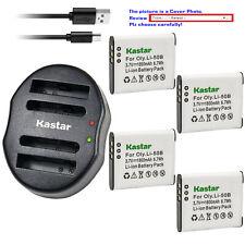 Kastar Battery Dual Charger for Olympus Li-50B & Tough TG-610 Tough TG-615