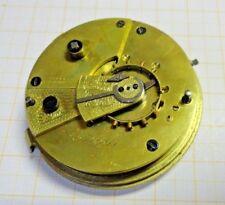 Älteres,gebrauchtes Taschenuhr Werk,defekt Schlüsselaufzug Patent Lever...