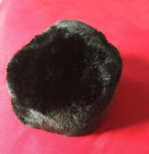 Women's Black Faux Frenzi By Dena Russian Ushanka Like Hat Faux Fur Winter M / L