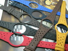 GOOD QUALITY LEATHER STRAP FOR  OMEGA DYNAMIC GENTS DARK BLUE BROWN BLACK GRAY.