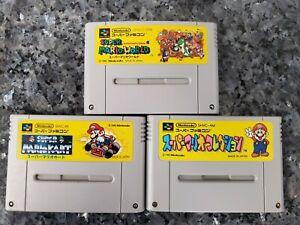 Super Famicom Mario Game Lot