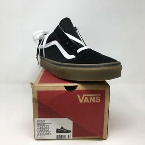 Unisex Vans Old Skool Skate Sneaker, Size 10.5 Men or 12 Women - Black/Brown