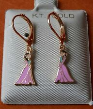 14K Gold Filled FROZEN Pink Princess Elsa Anna hanging Earrings / Jewelry