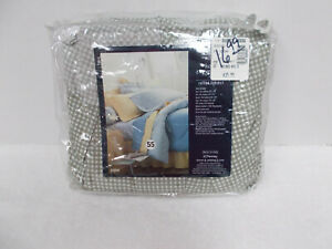 JC Penney BEDSKIRT - Queen Bed - Olive Green & White GINGHAM - NIP