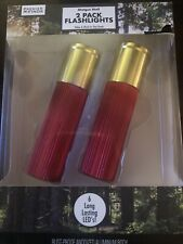 Shotgun Shell 2 Pack Flashlight LED Aluminum Body Stocking Stuffer Hunter Hunt