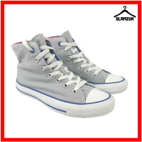 Converse Womens All Star Hi Top Grey Pink UK 5 / 37.5 Double Tongue Two Fold