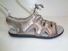 Ecco Size 5 to 5.5 Eur 36 BLUMA TOGGLE Grey Leather Sandals New Womens Shoes