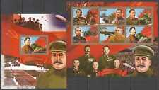 D0817 IMPERF CONGO WORLD WAR II WWII LEADERS STALIN IN ARMY 1KB+1BL MNH