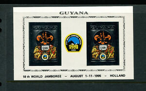 Guyana 1995 Scouts Chess Unlisted Gold Foil Sheets Michel BL 236-37 IMPERF var