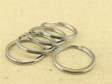 30mm Stainless steel Keyring Split Key Rings Hoop Ring Elastic Loop 10Pcs
