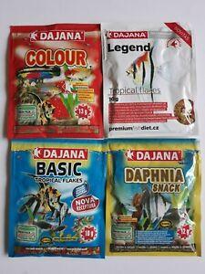 Dajana Tropical Flakes & Daphnia 4x sachet bundle - for all tropical fish DEAL