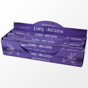 Elements Fairy Dreams Incense Joss sticks. 20 sticks, 1 pack.